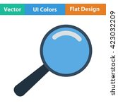 flat design icon of magnifier...