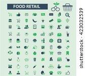food retail  | Shutterstock .eps vector #423032539