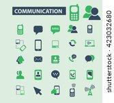communication icons  | Shutterstock .eps vector #423032680
