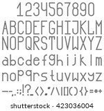 font with a transparent fill... | Shutterstock .eps vector #423036004
