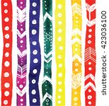 stylish striped pattern with... | Shutterstock .eps vector #423036100