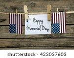 happy memorial day greeting... | Shutterstock . vector #423037603