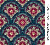 vector seamless colored pattern ... | Shutterstock .eps vector #423037693
