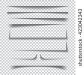 transparent realistic paper...   Shutterstock .eps vector #423042343