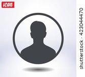 user sign icon. person symbol.... | Shutterstock .eps vector #423044470