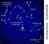 map of the starry sky.... | Shutterstock .eps vector #423046048