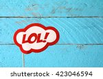 lol bubble text comic retro... | Shutterstock . vector #423046594