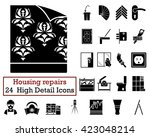 Set Of 24 Housing Repairs Icon...