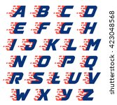 alphabet with abstract... | Shutterstock .eps vector #423048568