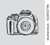 camera in sketchy style | Shutterstock .eps vector #423052798