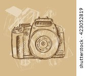 camera in sketchy style | Shutterstock .eps vector #423052819