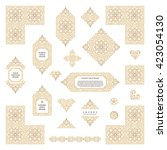 arabic vector set of frames and ... | Shutterstock .eps vector #423054130