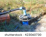 new installed water borehole.... | Shutterstock . vector #423060730