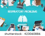 lungs medicine pneumonia asthma ... | Shutterstock . vector #423060886