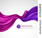 flying silk fabric. fashion... | Shutterstock .eps vector #423066808