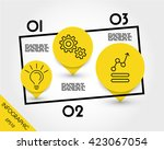 infographic pointers.... | Shutterstock .eps vector #423067054