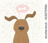 Happy Dachshund Puppy Dreaming...