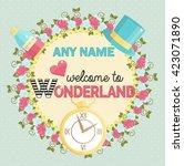 lovely personal invitation for... | Shutterstock .eps vector #423071890