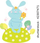 bunny with flower | Shutterstock . vector #42307471