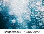 water bubbles in the sea | Shutterstock . vector #423079090
