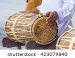 Man Drumming In Indian Wedding...