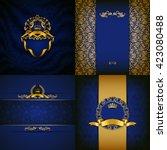 set of luxury ornate...   Shutterstock .eps vector #423080488