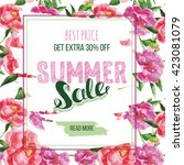 summer sale decorative banner.... | Shutterstock .eps vector #423081079