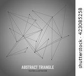 vector connect lines... | Shutterstock .eps vector #423085258