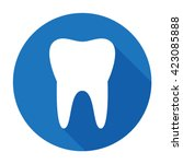 Teeth Icon Dentist Flat Vector...