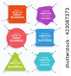 set of business banner  stretch ... | Shutterstock .eps vector #423087373