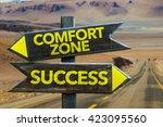 comfort zone   success... | Shutterstock . vector #423095560