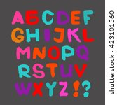 colorful english alphabet on a... | Shutterstock .eps vector #423101560