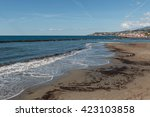 beach in santo stefano on the... | Shutterstock . vector #423103858