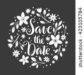 save the date floral... | Shutterstock .eps vector #423105784