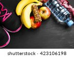 healthy lifestyle with training ... | Shutterstock . vector #423106198