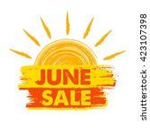 june sale summer banner   text... | Shutterstock .eps vector #423107398