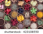 health and super food  to boost ... | Shutterstock . vector #423108550