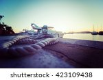 Close Up Of A Rope In Alghero...