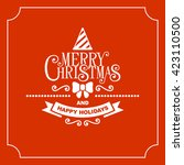 red christmas greeting card... | Shutterstock . vector #423110500