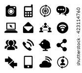 communication and internet... | Shutterstock . vector #423114760
