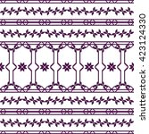 complex for embroidery... | Shutterstock . vector #423124330