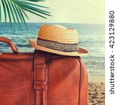 concept of summer traveling... | Shutterstock . vector #423129880