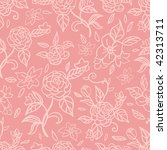 seamless pattern with pink roses | Shutterstock .eps vector #42313711