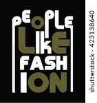 slogan typography  t shirt... | Shutterstock .eps vector #423138640