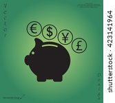 piggy bank icon | Shutterstock .eps vector #423141964