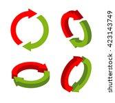 sign exchange isometric. swap...   Shutterstock .eps vector #423143749
