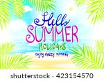 hello summer. poster on... | Shutterstock .eps vector #423154570