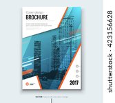 Cover design for Annual Report, Catalog or Magazine, Book or Brochure, Booklet or flyer. Layout template in A4 with motion elements. Creative template in bright colors. Vector | Shutterstock vector #423156628