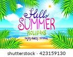 hello summer. poster on... | Shutterstock .eps vector #423159130