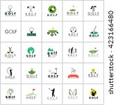 golf icons set   isolated on... | Shutterstock .eps vector #423166480
